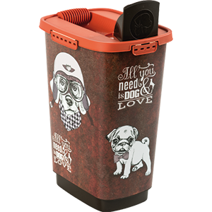 4001910533-Rotho-My-Pet-Cody-Pet-Food-Container-25-l-Dog-Vintage-open